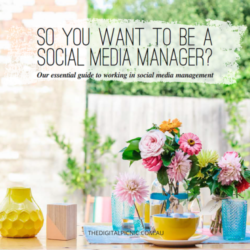 So you want to be social media manager?