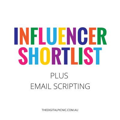 Influencer Shortlist + Email Scripting