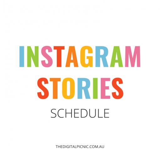 Instagram Stories Schedule