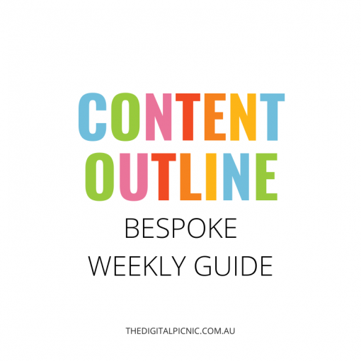 Weekly content outline