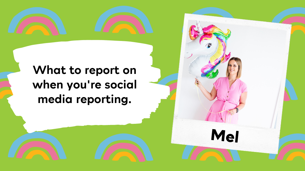 social media reporting with Mel