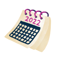 Illustration of a 2022 calendar