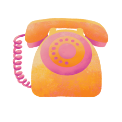 Illustration of an old school telephone