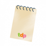 Illustration of notepad paper with The Digital Picnic logo